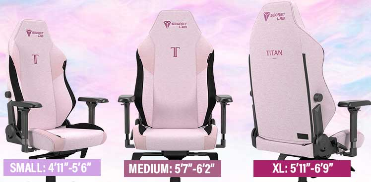 Secretlab Titan Plush Pink gaming chair