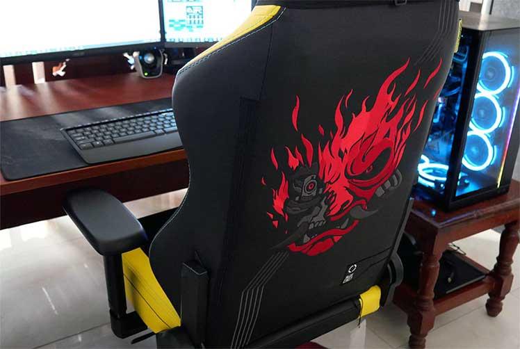 Cyberpunk chair rear view