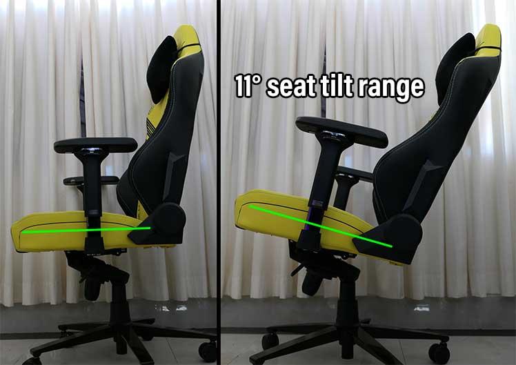 Titan chair seat tilt functionality