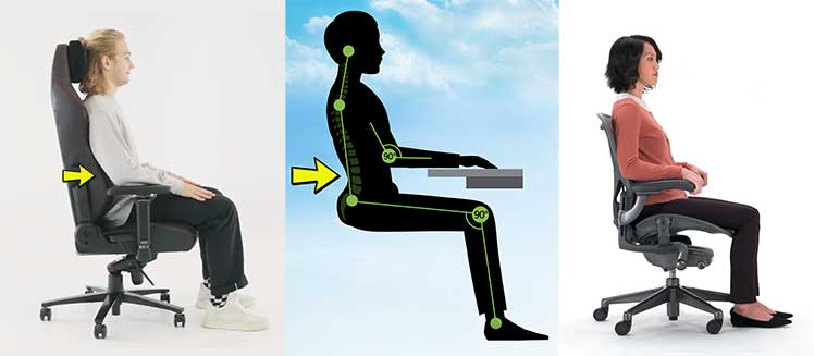 Secretlab Titan vs Herman Miller Aeron lumbar support