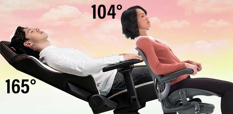Titan vs Aeron recline range