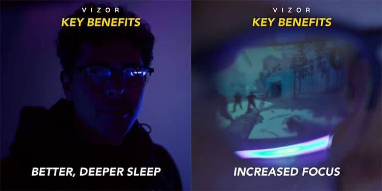 Vizor blue light glasses