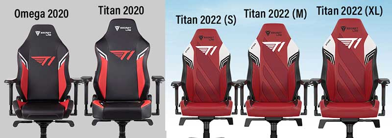 T1 gaming chair update