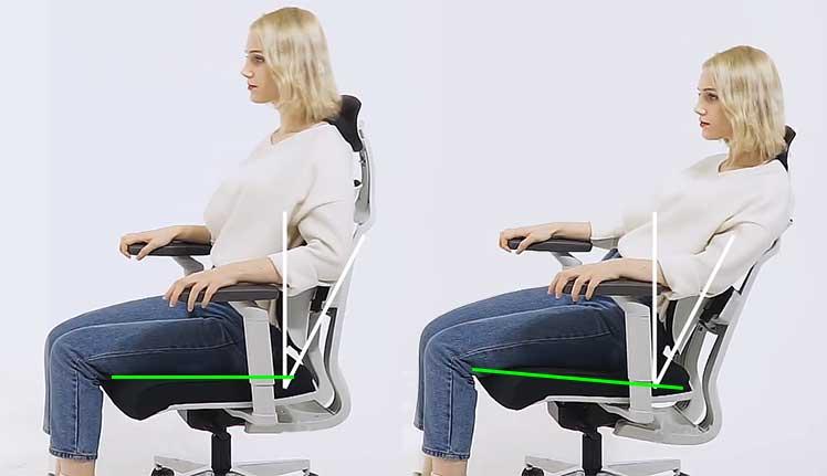 Duorest D2 chair synchronous tilt