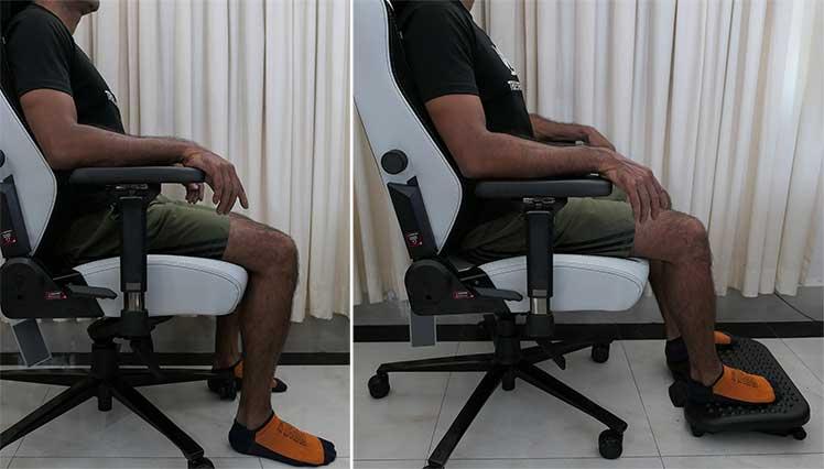 Ergonomic footrest to fix seat depth