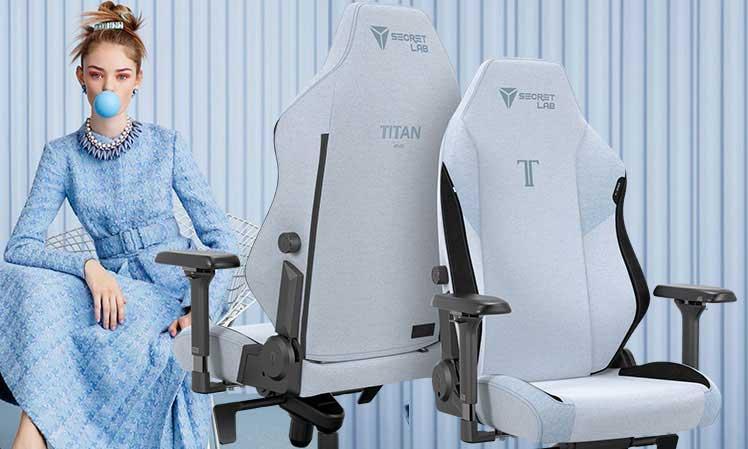 Secretlab Frost Blue chair upholstery