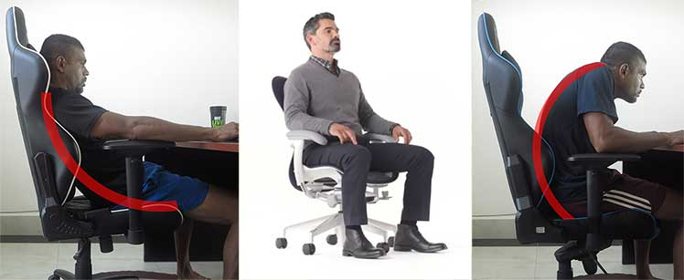 Gaming vs task chair posture support