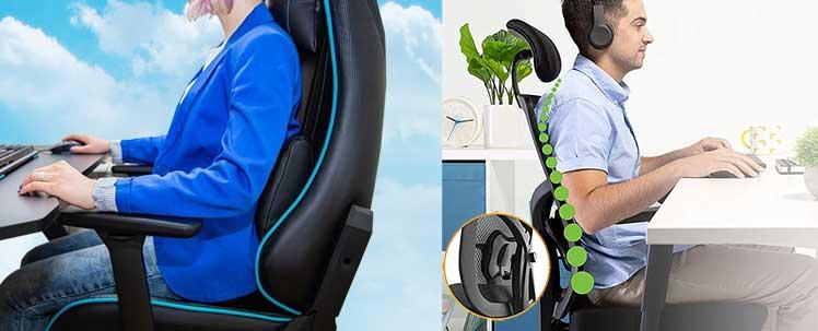 Types of ergonomic chair lumbar support