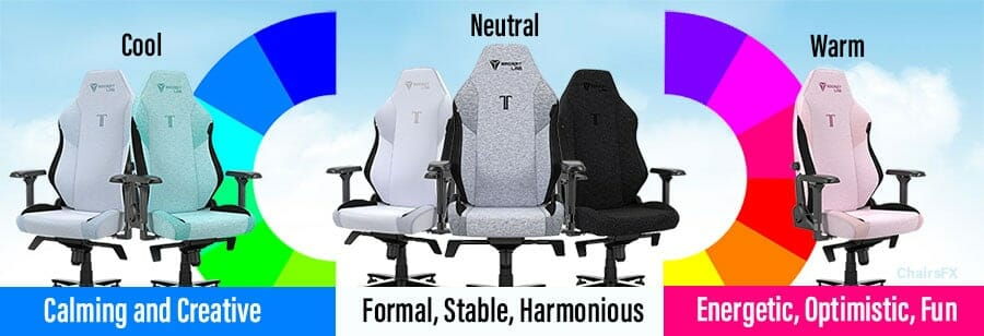 SoftWeave gaming chair color spectrum