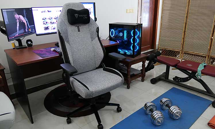 Healthy home office workstation