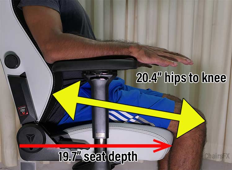 Titan seat depth explanation