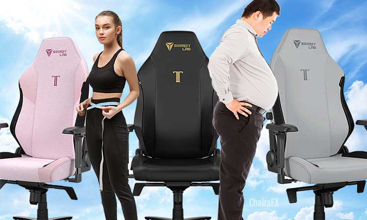 Choose the right Secretlab Titan chair size