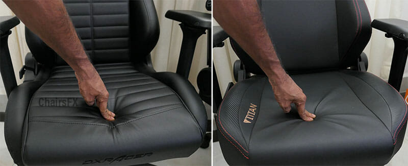 Soft vs firm gaming chair padding test