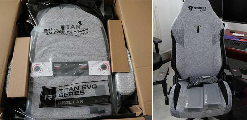 2022 Series Titan chair assembly