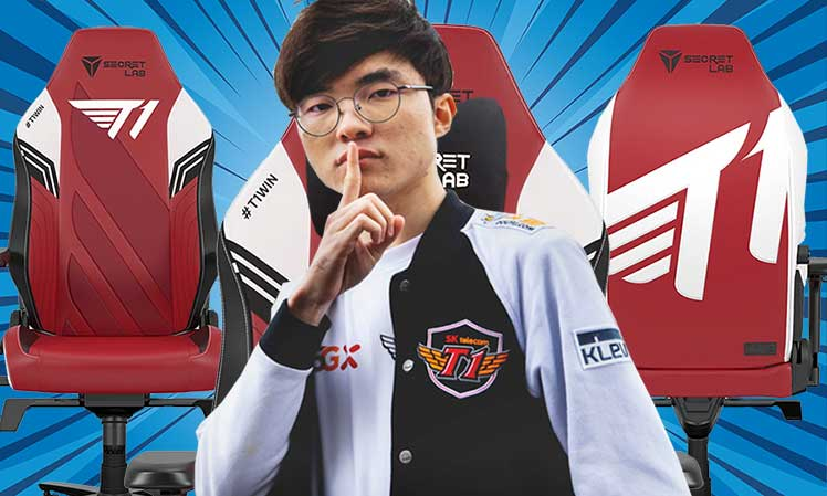 New T1 esports gaming chair design with Faker