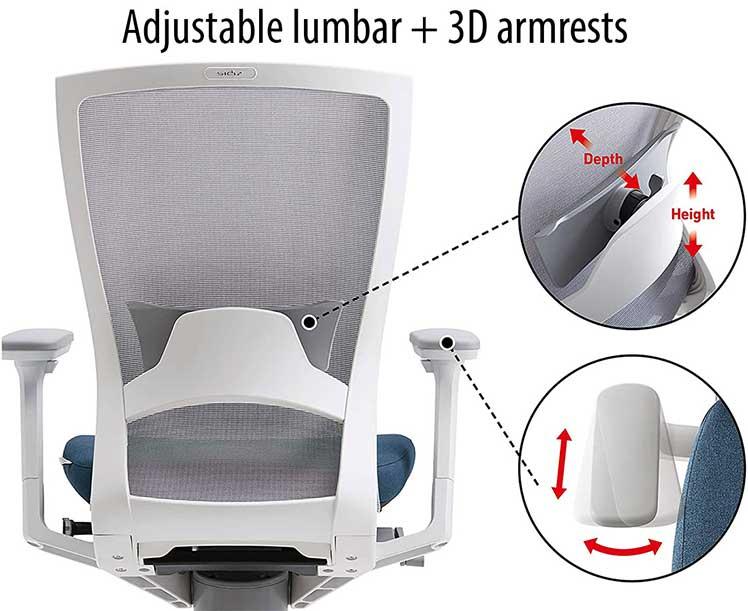 Sidiz T50 adjustable lumbar support