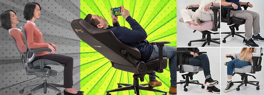 Gaming vs office relaxation qualities