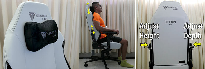 Titan Ash chair ergonomic features