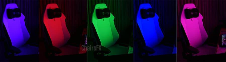 Ash chairs under RGB lighting