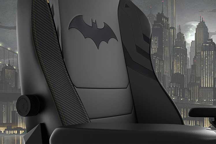 Closeup of the Secretlab Dark Knight gaming chair