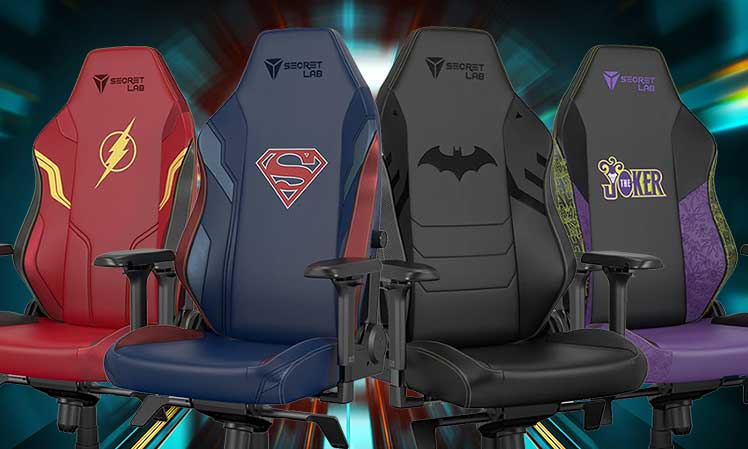 DC gaming chairs from Secretlab