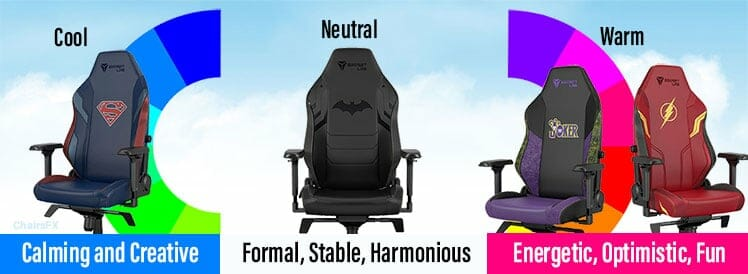 DC gaming chair color psychology