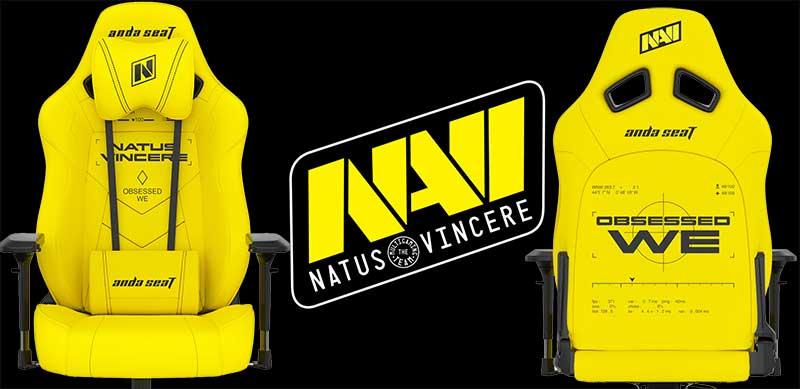 Anda Seat NaVi yellow gaming chair