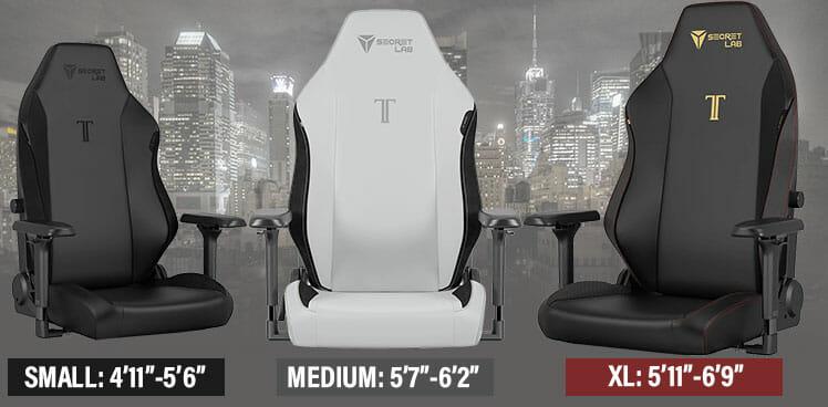 Titan 2022 Series sizes